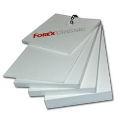 Bílá pěněná deska Forex 203x405cm, tl.5mm