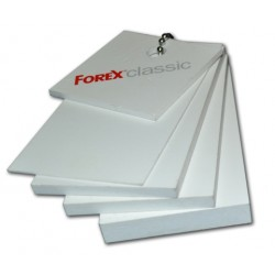 Bílá pěněná deska Forex 156x305cm, tl.19mm