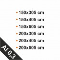 4mm, Al 0,3mm
