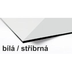 Ibond 200x405cm, BÍLÁ / STŘÍBRNÁ, tl.3mm, Al vrstva 0,3mm