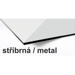 Ibond 150x305cm, STŘÍBRNÁ / METAL, tl.3mm, Al vrstva 0,3mm