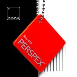Perspex GS - opál, červená 440, 1000x2030 mm, tl.3mm,