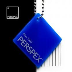 Perspex® litý - opál, modrá 7033, 1000x2030 mm, tl.3mm