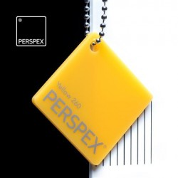 Perspex® litý - opál, žlutá 260, 1010x3050 mm, tl.3mm,