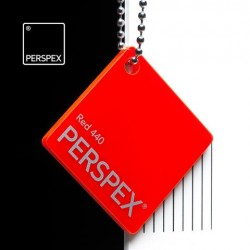Perspex® litý - opál, červená 440, 1520x12050 mm, tl.3mm,
