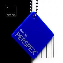 Perspex® litý - opál, modrá 750, 1520x12050 mm, tl.3mm,