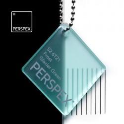 Perspex GS - frost, glacier green S2-6T21, 100x203cm, tl.3mm