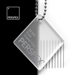 Perspex GS - frost, crystal clear S2-000, 100x203cm, tl.3mm