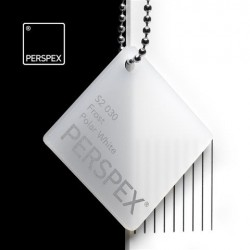 Perspex GS - frost, polar white S2-030, 100x203cm, tl.3mm
