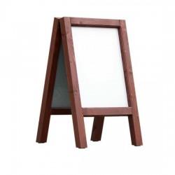 Dřevěný reklamní stojan Áčko A2 mahagon