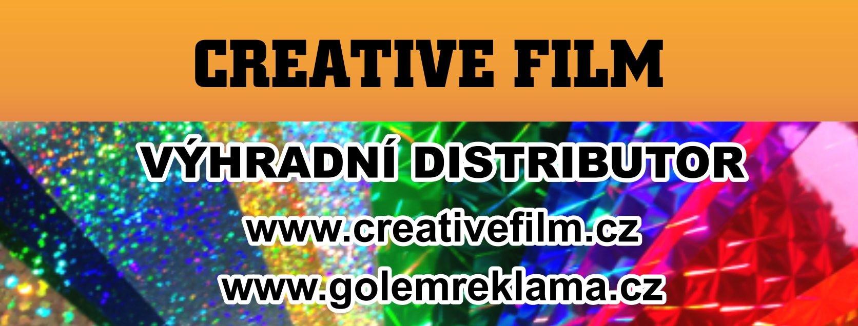Golem Reklama je distributorem folií CREATIVE